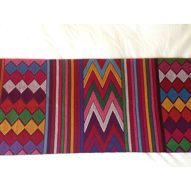 Chiapas Red Bed Runner or Table Runner For Sale In Los Angeles - Image 6 of 6