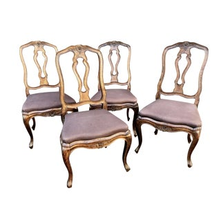 19th Century Neoclassical French Dining Chairs - Set of 4 For Sale