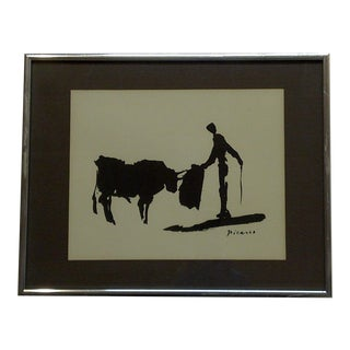 """""""Toros Y Toreros"""" Framed and Matted Hand Silk Screened Print by Pablo Picasso"""