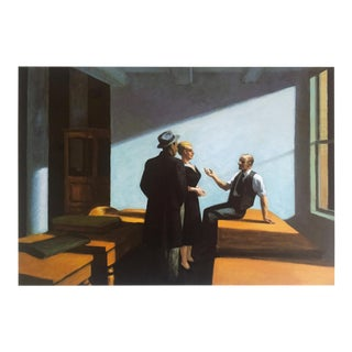 """Edward Hopper Rare Vintage 1993 Collector's Lithograph Print """" Conference at Night """" 1949 For Sale"""