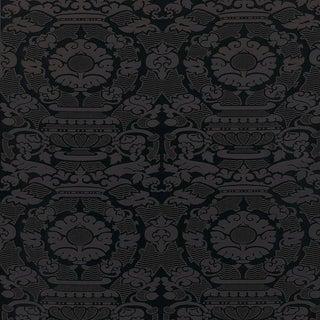 Sample, Suzanne Tucker Home Piacevole Silk Linen Jacquard Fabric in Aubergine