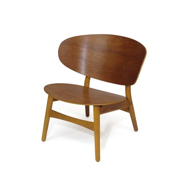 Fritz Hansen Hans Wegner Teak Shell Chair Fh-1936 For Sale - Image 4 of 12