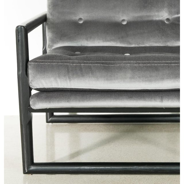 """Grey Mohair Milo Baughman """"Cube"""" Side Chair For Sale In Palm Springs - Image 6 of 7"""