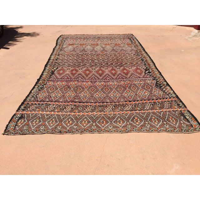 Vintage Moroccan Nomadic African Tribal Rug For Sale - Image 9 of 9
