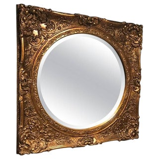 Early 20th Century Vintage Giltwood Mirror For Sale