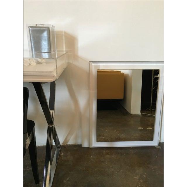 Mid-Century Modern Lucite Framed Mirror - Image 3 of 8