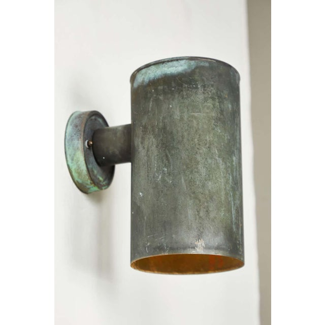 Metal 1950s Hans-Agne Jakobsson Cylindrical Outdoor Sconces - a Pair For Sale - Image 7 of 10