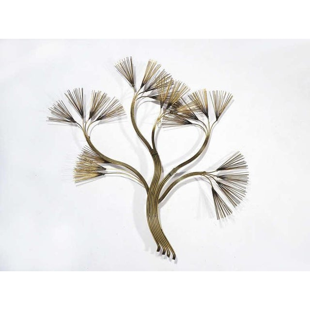 Abstract Floral Wall Sculpture in Brass by Jere For Sale - Image 5 of 5