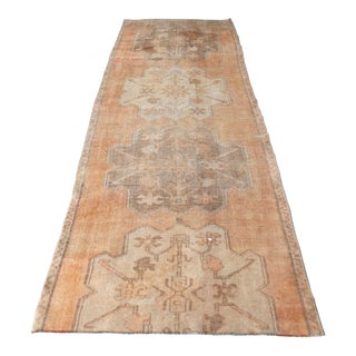 "1950's Vintage Turkish Hand-Knotted Hallway Runner-2'8 X 8'7"" For Sale"