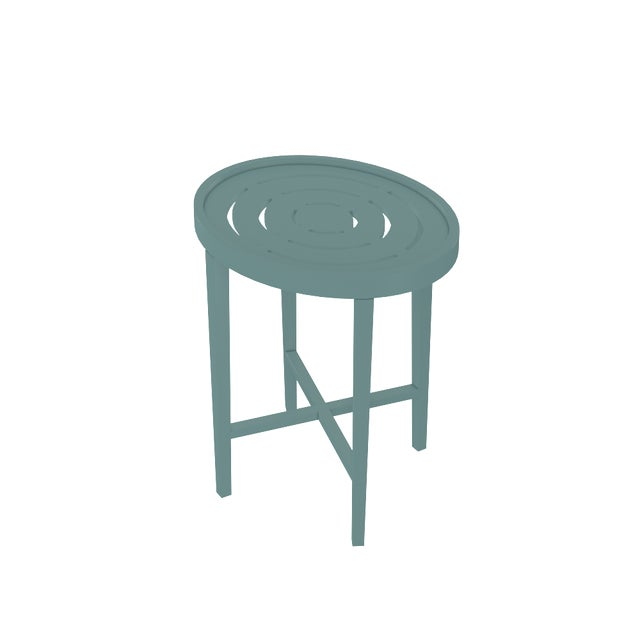 Oomph Oomph On the Rocks Oval Outdoor Side Table, Green For Sale - Image 4 of 5