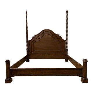 California King Custom Design Chestnut English Traditional Bed Frame For Sale