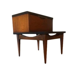 1960s Mid-Century Modern Kent Coffey Nightstand For Sale