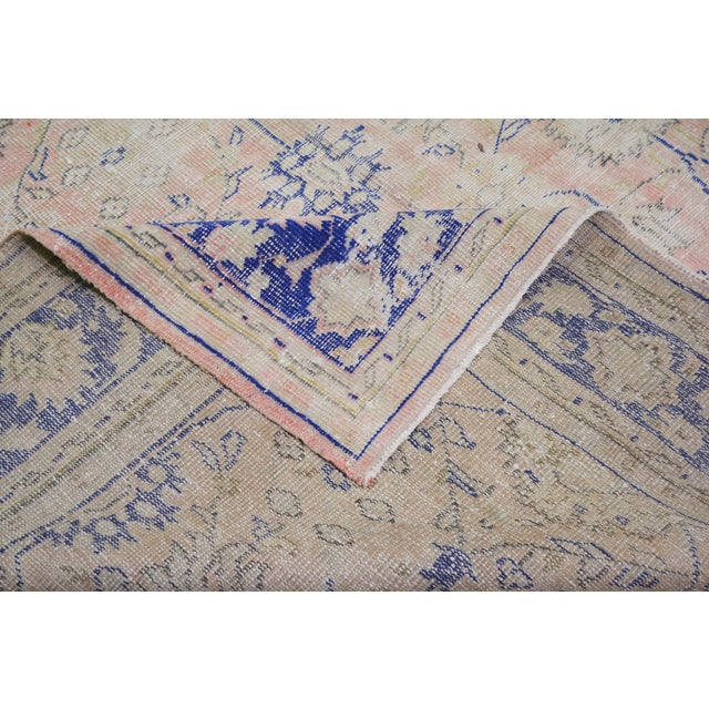 """Vintage Turkish Hand Knotted Whitewash Organic Wool Fine Weave Rug,7'9""""x10'6"""" For Sale In New York - Image 6 of 7"""
