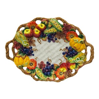 1997 Fitz & Floyd Autumn Bounty Platter For Sale