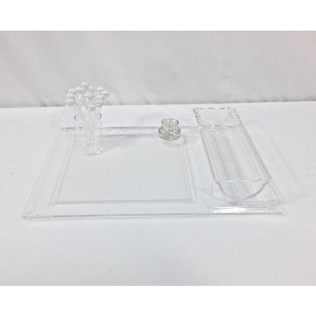 Transparent Lucite Sheffield Cheese & Cracker Serving Set, 18 Pcs. For Sale - Image 8 of 12