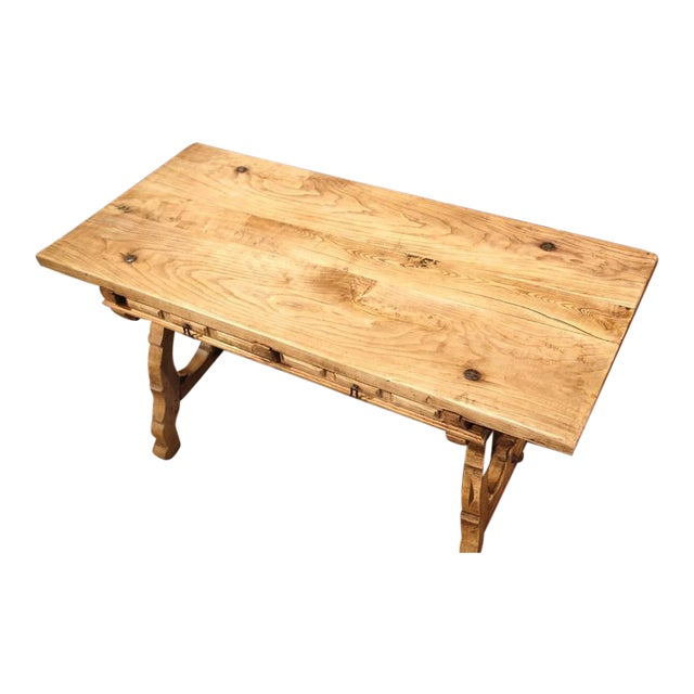 19th Century Spanish Bleached Chestnut Table For Sale