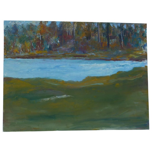 Abstract Impressionist Painting by h.l. Musgrave - Image 1 of 6