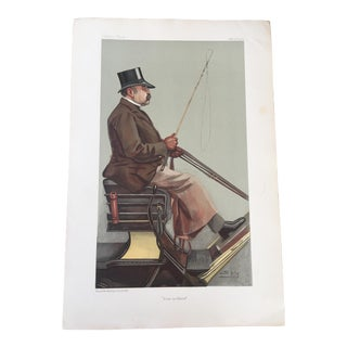 Original 1903 Vanity Fair Print of Carriage Driver, Baron Adolph Wilhelm Deichmann For Sale