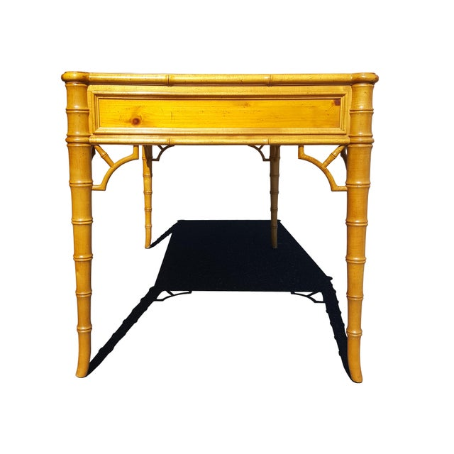 Sycamore Baker Furniture Chippendale Faux Bamboo Desk For Sale - Image 7 of 12
