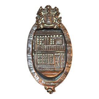 English Faithfulness Bronze Door Knocker For Sale
