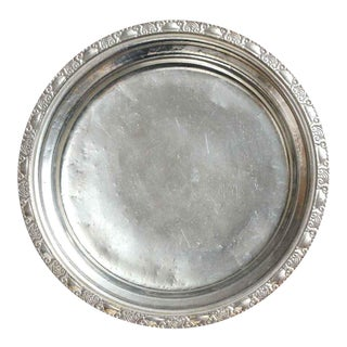 "Salvaged Waldorf Astoria Art Deco 10"" Round Serving Tray For Sale"