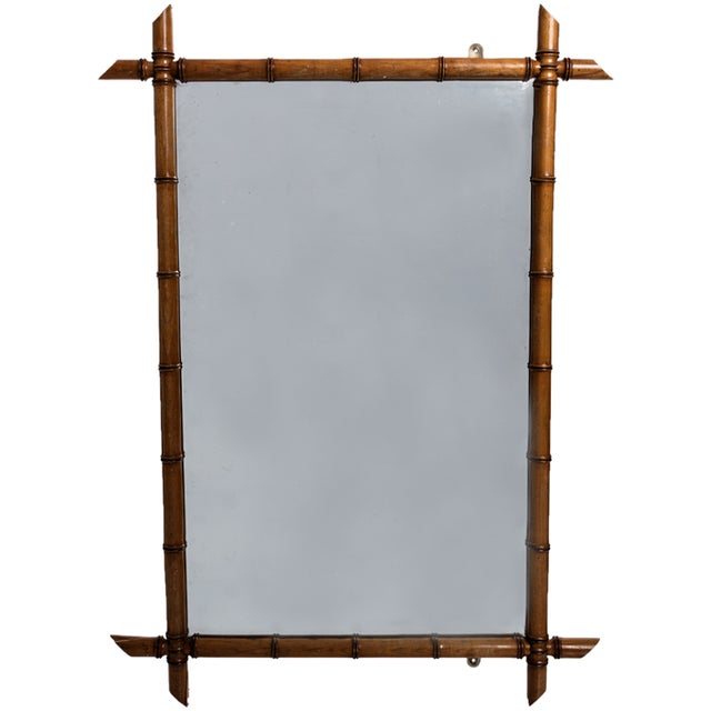 Asian FAUX BAMBOO MIRROR For Sale - Image 3 of 3