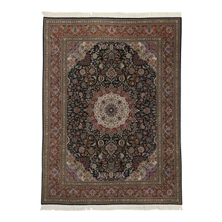 Vintage Chinese Persian Tabriz Style Rug - 09'01 X 12'04 For Sale