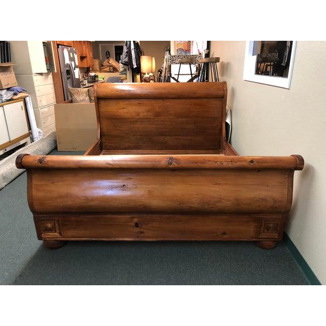 Classic Solid Wood California King Sleigh Bed | Chairish
