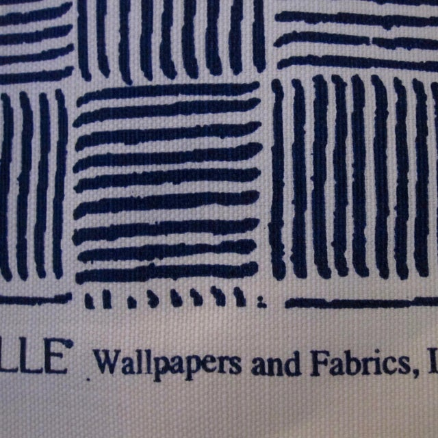 "Kravet Alan Campbell for Quadrille's ""Textura I"" in China Seas French Blue Fabric - 8 Yards For Sale - Image 4 of 5"