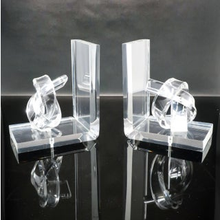 Hollywood Regency Knotted Lucite Bookends Preview