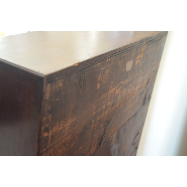 Brown 18th Century Chippendale Amphitheater Interior Mahogany Desk For Sale - Image 8 of 11