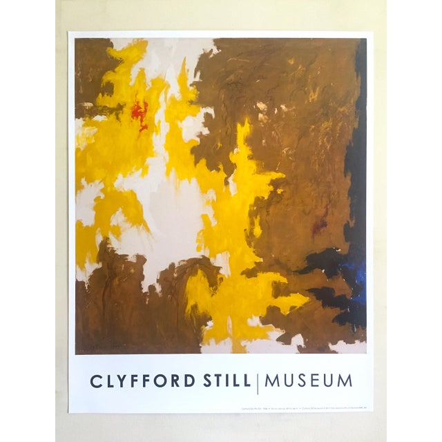 """Clyfford Still Abstract Expressionst Offset Lithograph Print Museum Poster """" Ph - 321 """" 1948 For Sale - Image 12 of 13"""