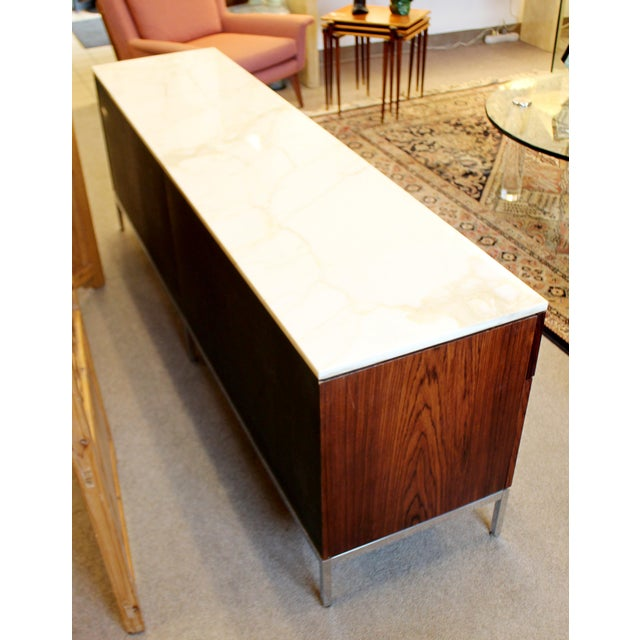 Mid-Century Modern Florence Knoll for Knoll Int. Rosewood Marble Credenza, 1960s For Sale In Detroit - Image 6 of 12