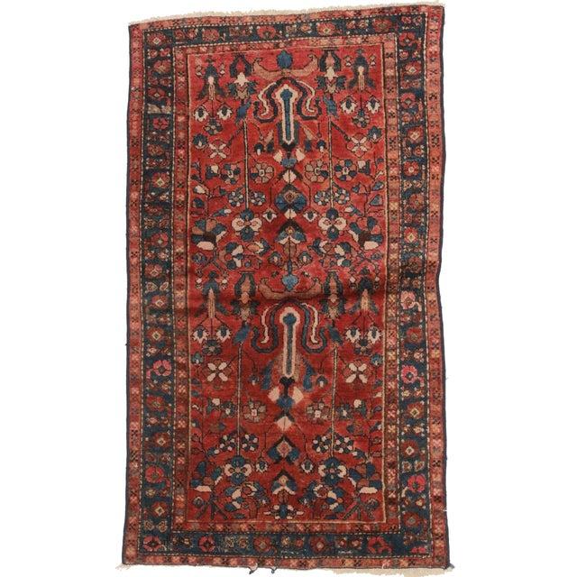 Vintage Persian Hamedan Wool Rug - 3′3″ × 5′10″ - Image 1 of 2