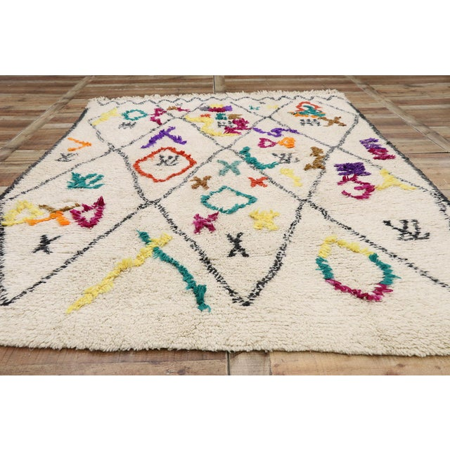 """Textile Contemporary Berber Moroccan Azilal Rug - 6'3"""" X 9'1"""" For Sale - Image 7 of 9"""
