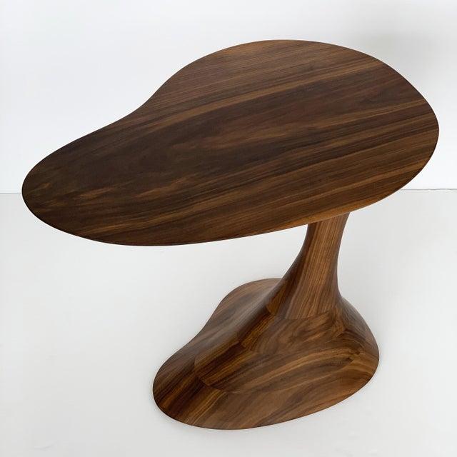 """Sculptural Solid Walnut """"Pedem"""" Side Table Morten Stenbaek - A Pair For Sale - Image 10 of 13"""