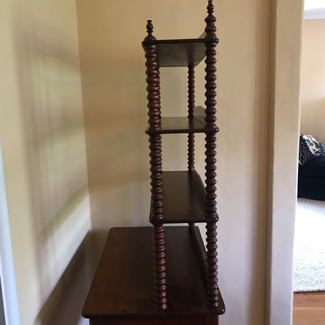 Mahogany Late 19th Century Antique Spool Turned Desk Etagere For Sale - Image 7 of 13