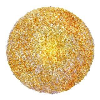 Tondo 180 Wall Light in Gold Polycarbonate by Jacopo Foggini For Sale