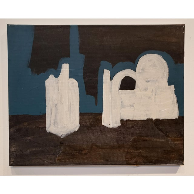 Contemporary Painting of Desert Ruins at Night by Artist Lionel Lamy For Sale In Dallas - Image 6 of 6