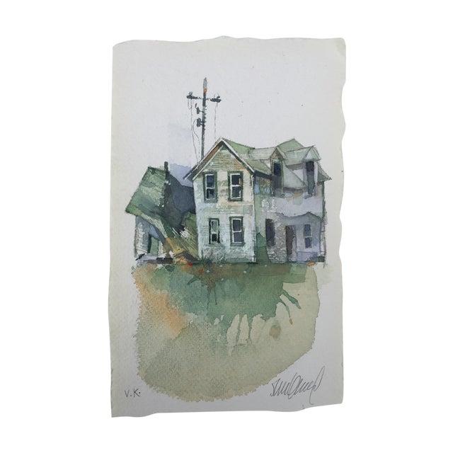 """""""Dakota Farm"""" Original Watercolor - Image 1 of 3"""