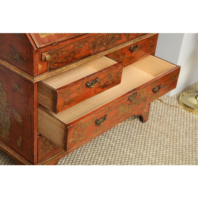 Extraordinary George III Lacquered Secretary For Sale - Image 9 of 14