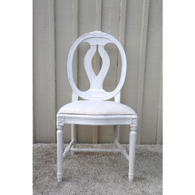 Wood 1900s Vintage Swedish Gustavian Style Dining Chair (16 Available) For Sale - Image 7 of 10