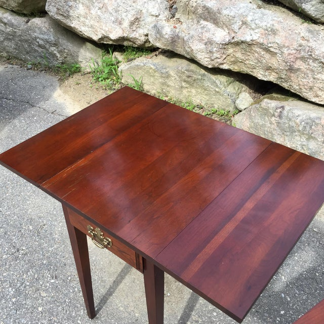 Cherry Drop Leaf End Tables - A Pair - Image 4 of 11