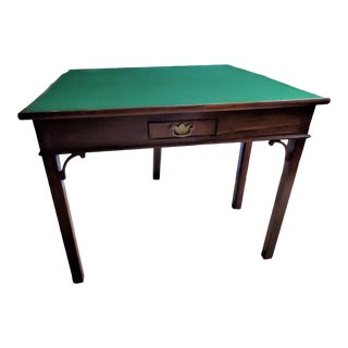 Authentic American South Carolina 19th C. Pembroke Card Table Solid Walnut For Sale