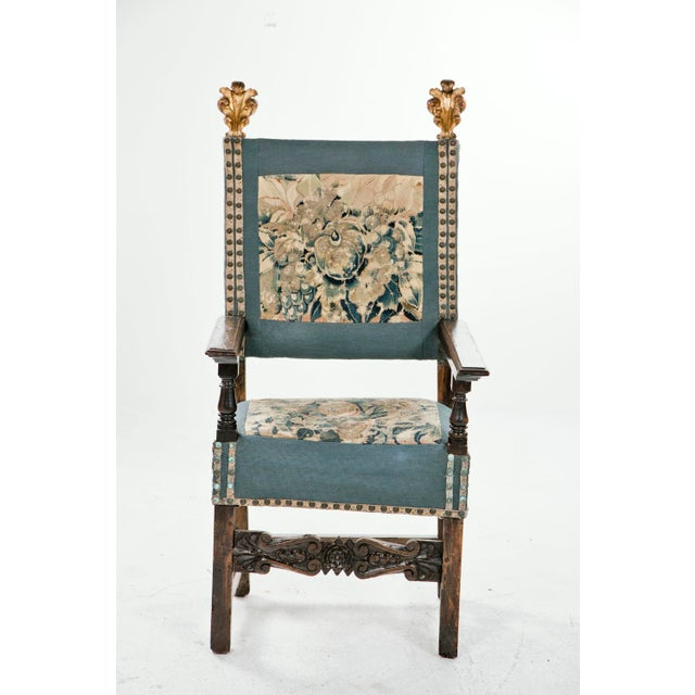 18th Century Italian Walnut Arm Chair For Sale In San Francisco - Image 6 of 6