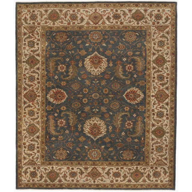 "Hand-Knotted Indo-Persian Rug- 8'1""x 9'5"" - Image 1 of 10"