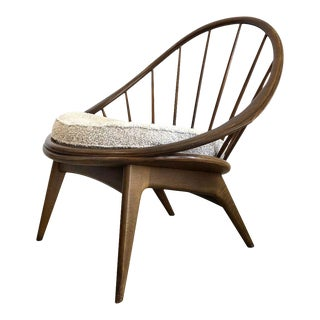 Ib Kofod-Larsen for Selig Danish Hoop Peacock Chair For Sale