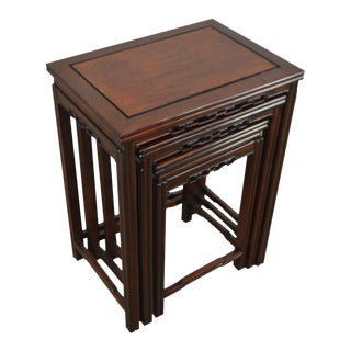 Chinese Rosewood Nesting Set of 3 Tables For Sale