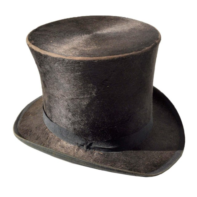 b531db0f710 G.W. Campbell Top Hat w  Stetson Hat Box For Sale In San Francisco - Image