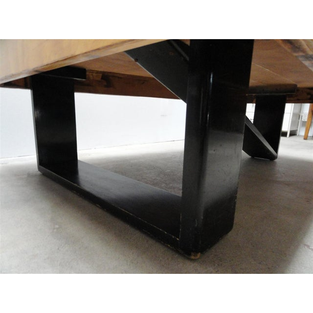 Rare Barzilay Trapezoid Cocktail Table in Birch For Sale - Image 10 of 10